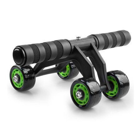 Abdominal muscle training roller - 4 wheels