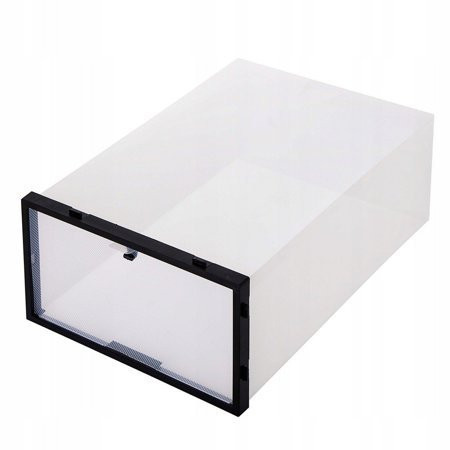 BOX SHOE ORGANIZER CONTAINER WITH A FLAP 5 PCS